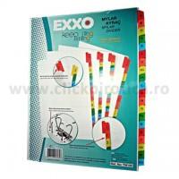 Separator index carton alb alfabetic A-Z, Exxo