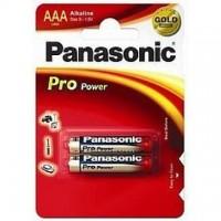 Baterie alcalina R3 – AAA, set 2 bucati, Panasonic Pro Power