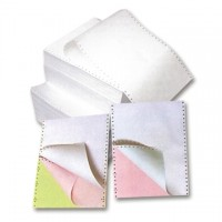 Hartie pentru imprimante matriceale A4, 3 ex., alb-roz-verde, 550seturi/cutie
