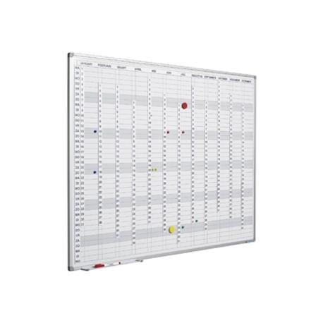 Planner anual, vertical, 90 x 120 cm, profil aluminiu SL, SMIT