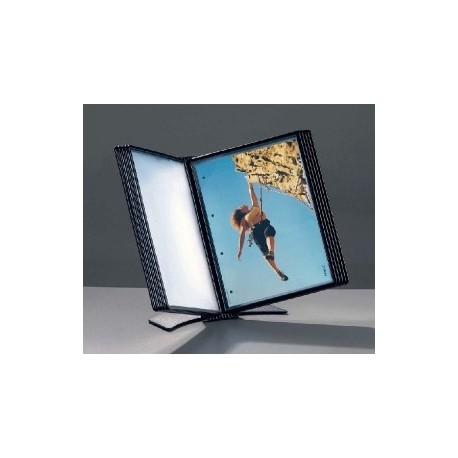 Display de birou pentru 10 buzunare A4, Probeco EasyMount - antracit