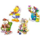 Puzzle 4 in 1 Timp liber, Castorland (4, 5, 6, 7 piese)