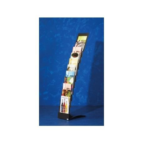 Stand metalic pentru cataloage 11 x A4, 153 x 28 x 47 cm, SMIT Escalera negru