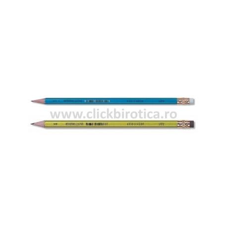Creion HB cu radiera metalizat Koh-I-Noor