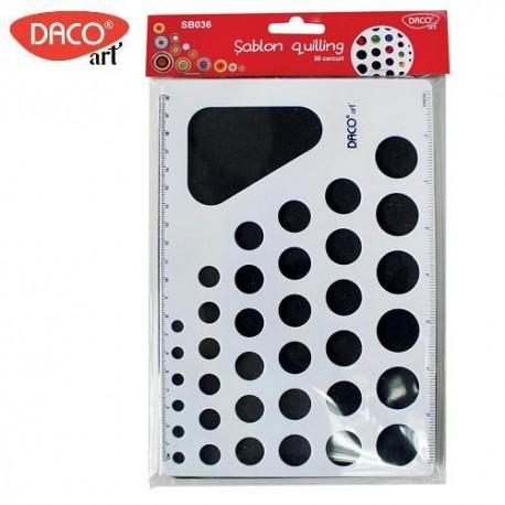 Sablon quilling 36 cercuri, Daco