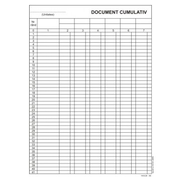 Document cumulativ vertical