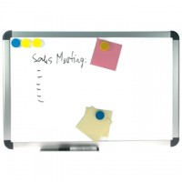 Whiteboard magnetic cu rama din aluminiu, 90 x 120 cm, OPTIMA