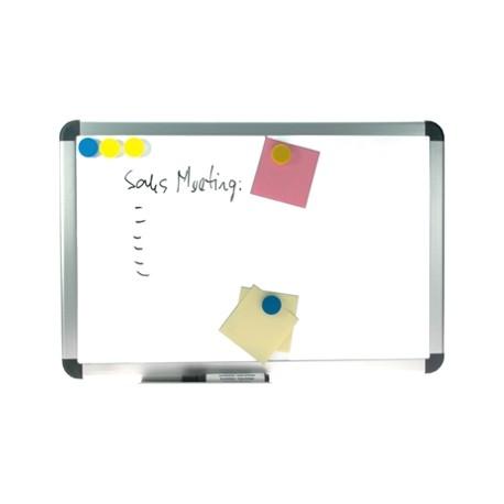 Whiteboard magnetic cu rama din aluminiu, 90 x 120 cm, OPTIMA