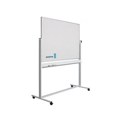 Whiteboard rotativ 100 x 200 cm, pe stand mobil, profil aluminiu RC, SMIT