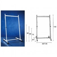 Stand metalic  90 cm latime, 150 cm inaltime, pe rotile, SMIT