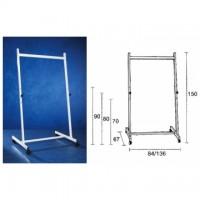 Stand metalic 140 cm latime, 150 cm inaltime, pe rotile, SMIT