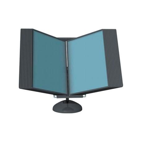 Display de prezentare de birou cu 10 buzunare A4, HD DESIGN Vip Quickload- antracit