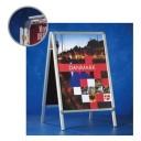 Suport afise A-board pentru postere A1 (594 x 841mm), rama aluminiu, Smit