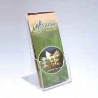 Suport pentru pliante DL (1/3 A4) - transparent cristal