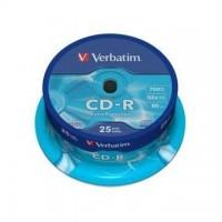 CD-R Verbatim 700MB/52x, 25 buc./cutie
