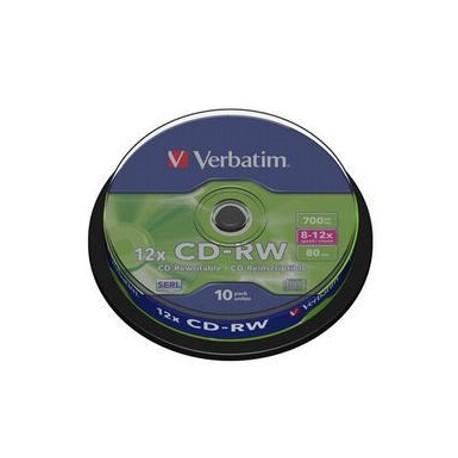 CD-RW Verbatim 700MB/12x, 10 buc./cutie