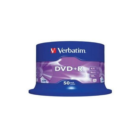 DVD+R Verbatim 4,7GB/16x, 50 buc./cutie