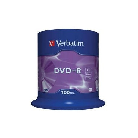 DVD+R Verbatim 4,7GB/16x, 100 buc./cutie