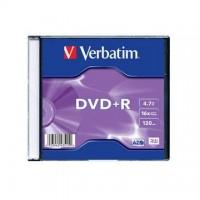 DVD+R Verbatim 4,7GB/16x, carcasa subtire