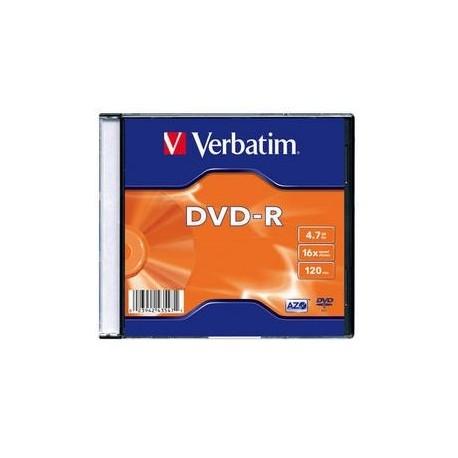 DVD-R Verbatim 4,7GB/16x, carcasa subtire