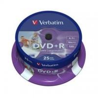 DVD+R Verbatim 4,7GB/16x, 25 buc./cutie, printabil