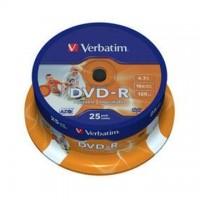DVD-R Verbatim 4,7GB/16x, 25 buc./cutie, printabil