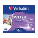 DVD+R Verbatim 4,7GB/16x, carcasa subtire, printabil