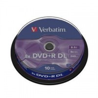 DVD+R Verbatim Double Layer 8,5GB/8x, 10 buc./cutie