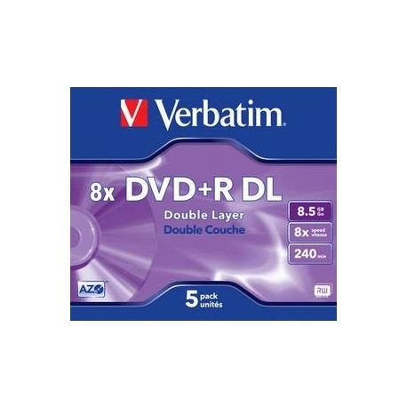 DVD+R Verbatim Double Layer 8,5GB/8x, carcasa subtire