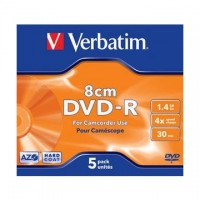 DVD-R Verbatim mini 8cm, 1,4GB/30min., carcasa subtire