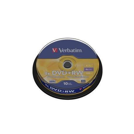 DVD+RW Verbatim 4,7GB/4x, 10 buc./cutie