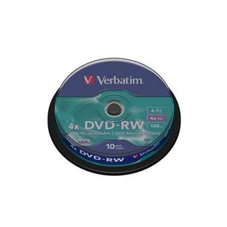 DVD-RW Verbatim 4,7GB/4x, 10 buc./cutie