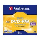 DVD+RW Verbatim mini 8cm, 1,4GB/30min., carcasa subtire