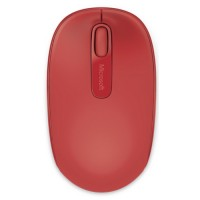 Mouse USB mini wireless, 3 butoane Microsoft Mobile 1850, rosu