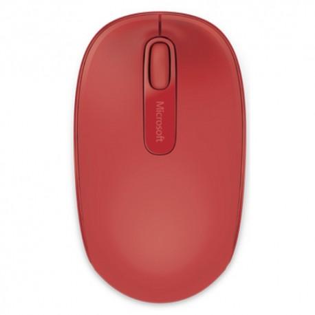 Mouse USB mini wireless, 3 butoane Microsoft Mobile 1850, rosu