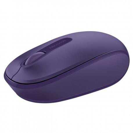 Mouse USB mini wireless, 3 butoane Microsoft Mobile 1850, violet
