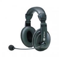 Casti cu microfon Serioux H900, piele, control volum, negre
