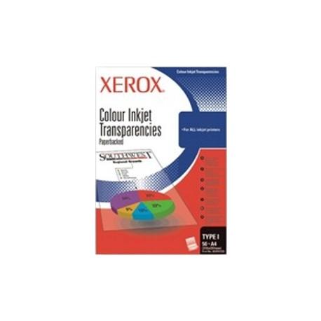 Folii transparente XEROX Inkjet A4, cu banda detasabila, tip J