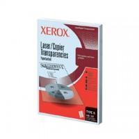 Folii transparente XEROX laser / copiator alb-negru A4, cu hartie suport, tip A