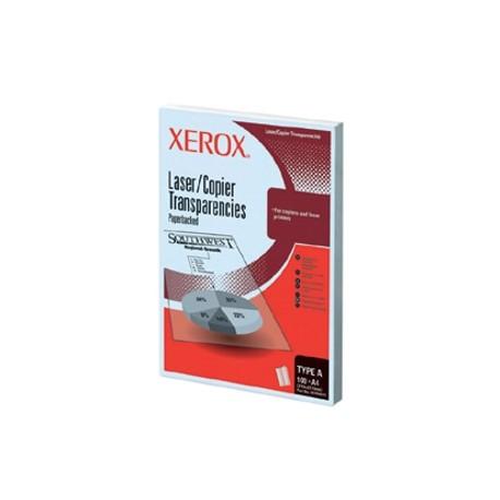 Folii transparente Xerox laser monocrom A4, cu hartie suport, tip A