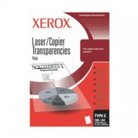 Folii transparente XEROX laser / copiator alb-negru A4, simple, tip C