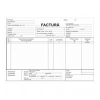 Factura A5, 3 exemplare, alb-roz-verde, autocopiativ, carnet 50 seturi