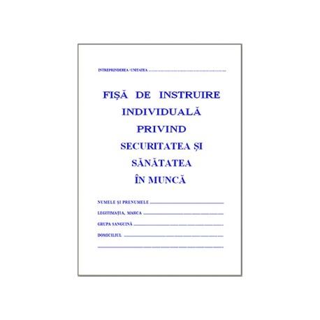 Fisa instruire privind securitatea si sanatatea in munca (protectia muncii), A5. coperti carton
