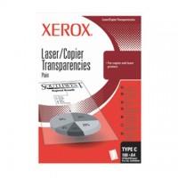 Folii transparente XEROX laser / copiator alb-negru A3, simple, tip C3