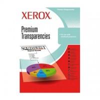 Folii transparente XEROX laser / copiator color A4, cu banda detasabila, tip CR
