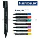 Marker permanent Lumocolor Staedtler 352, varf rotund 2-4 mm