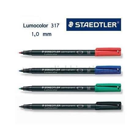 Marker permanent Lumocolor Staedtler 317, varf M (1 mm)