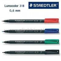 Marker permanent Lumocolor Staedtler 318, varf F (0,6 mm)