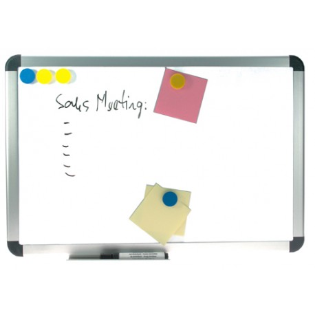 Whiteboard magnetic cu rama din aluminiu, 45 x 60 cm, OPTIMA