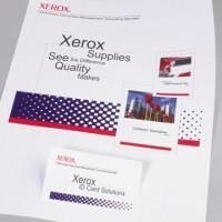 Carduri din plastic XEROX DocuCard, 1/A4, alb mat